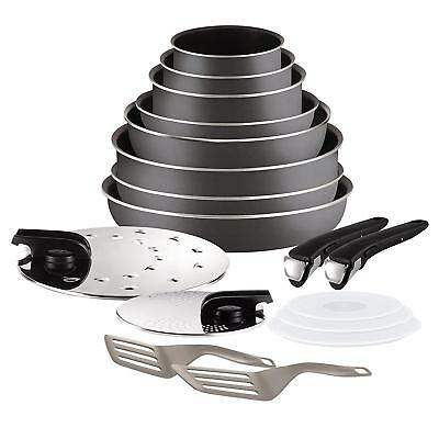 Tefal Ingenio 5 L2049002 Essential Set Of 17 Charcoal All Heat Sources Kitchen