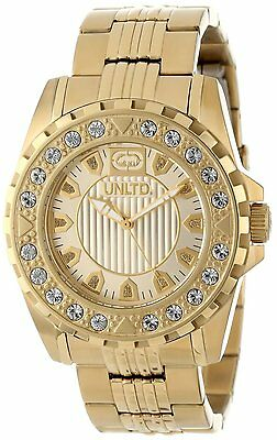 New Marc Ecko E13510G1 The Crush Gold Toned Steel Crystal Watch 2e0ecee29b3