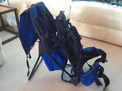 e2b0cd949b7 vango baby carrier for hiking superb condition blue with rain and sun cover