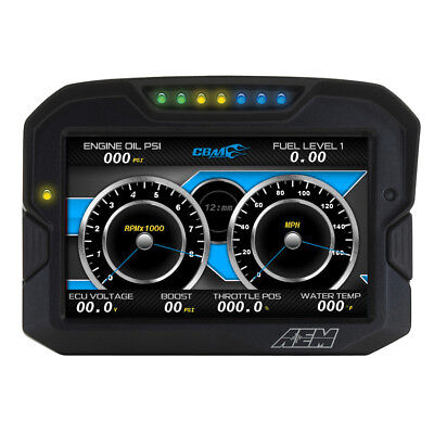 30-5703 Aem Cd-7Lg Carbon Digital Racing Dash Display/logger Kit With Gps