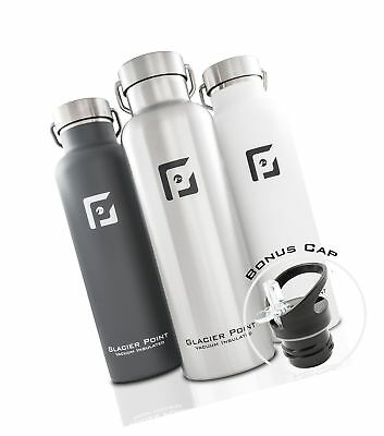 8d1858f2cb Glacier Point Vacuum Insulated Stainless Steel Water Bottle (25oz / 17oz)  Dou.
