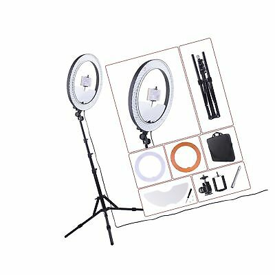 """18"""" Ring Light 55W 5500K Dimmable LED Lighting Kit with Mirror/Tripod Stand f..."""