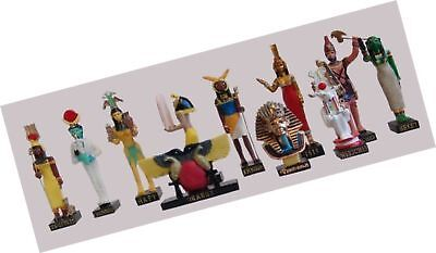 "Ancient Egypt Egyptian God 11 Figurines Set Resin Statue size 5"" high (Isis-S..."