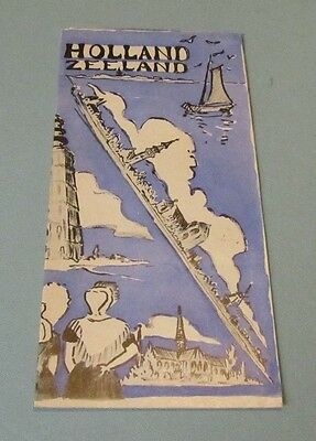 1953 Holland Zeeland Netherlands Travel Brochure with Great Pictorial Map