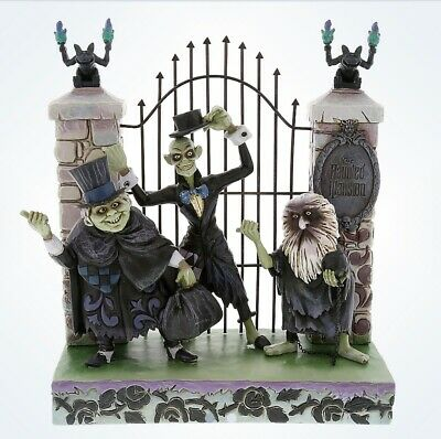Disney Traditions Jim Shore Figure Haunted Mansion Hitchhiking Ghosts New Box