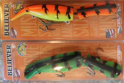 "Drifter Tackle Believer 8"" 800J or Super 9"" SB8J You Pick Color & Qty Musky Pike"