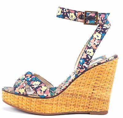 fc114a5deb1 MARC JACOBS Beige Multi Floral Platform Wedges Size 37 US 6.5 Guaranteed  Authentic. 30 Days Returns.