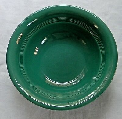 """Vintage Homer Laughlin HARLEQUIN SPRUCE Green 8-3/4"""" Round NAPPY Bowl VERY GOOD!"""