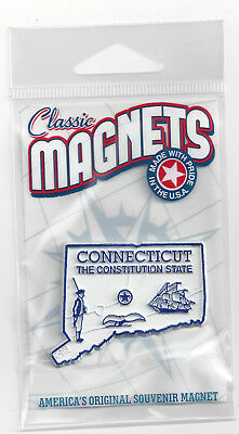 CONNECTICUT  CT  THE CONSTITUTION STATE  OUTLINE MAP MAGNET in Souvenir Bag, NEW