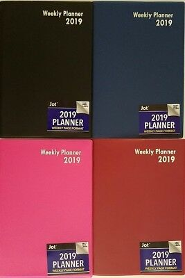 "2019 Weekly Appointment Planner Calendar Day-Timer 7.5"" x 5"", Select: Color"