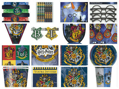Harry Potter Childrens Wizard Hogwarts Birthday Party Decorations Plates Napkins