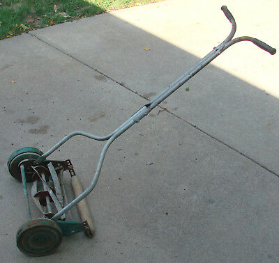 vintage MONTOMERY WARD wards PUSH REEL LAWN MOWER --- STEEL WHEELS