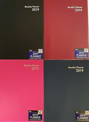 "2019 Monthly Appointment Planner Calendar Day-Timer 10.25"" x 7.5"", Select: Color"
