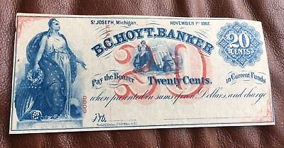1862 Civil War, U. S  Fractional Currency B.C. Hoyt, Banker - St. Joseph, Mich.