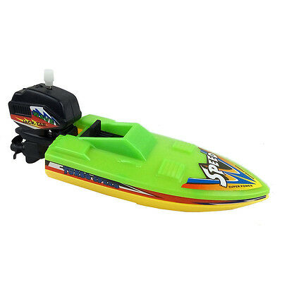 Plastic Kid Wind Up Boat Ship Float In Water Classic Educational Summer Bath Toy