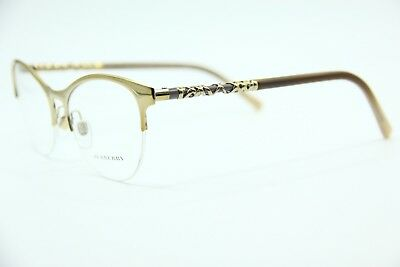 e65babae51c New Burberry B 1298 1215 Gold Authentic Eyeglasses Frame Rx B1298 53-17