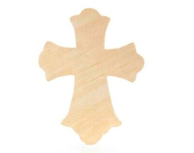 SALE - Large Wooden Hanging Christian Cross to Decorate - Ornate