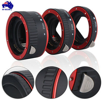 Auto Focus Macro Extension Tube Adapter Ring Set for Canon EOS EF Lens Mental AU