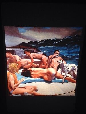 "Eric Fischl ""Old Man's Boat/ Dog"" Modern American Art 35mm Slide"