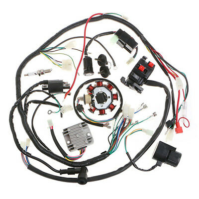 1 Set Motorcycle Electrics Stator Wire Harness Coil CDI Rectifier Solenoid Kit