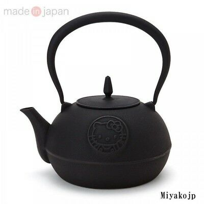 Hello Kitty Tea Japanese Iron Nanbu Teapot Ketlte TETSUBIN Japan EMS Rare New