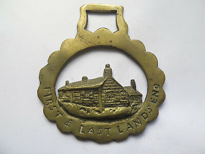 HORSE BRASS of FIRST & LAST HOUSE LANDS END VERY GOOD DETAIL c1970s