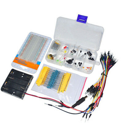 Electronic Components Starter Kit Breadboard LED Cable Resistor Set for Arduino
