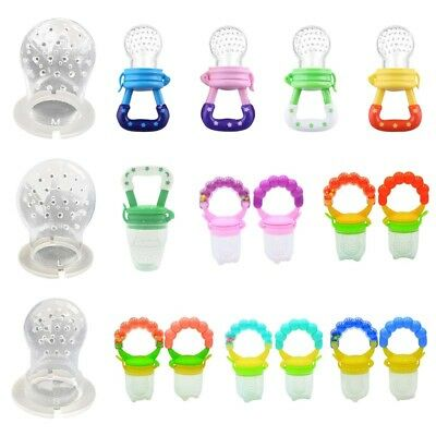 Baby Dummy Pacifier Fresh Fruit Food Feeder Feeding Nibble Weaning Teething UK