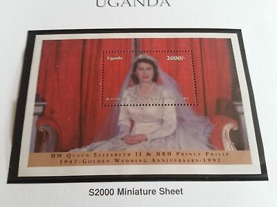 Uganda 1997 Sg Ms1858 Golden Wedding  Mnh