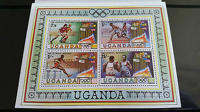 Uganda 1980 Sg Ms329 Olympic Games  Mnh