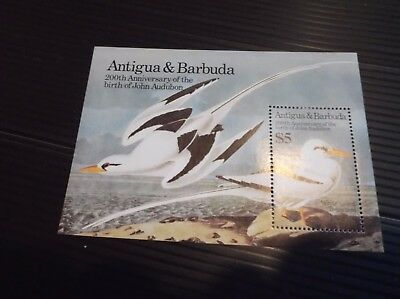 Antigua & Barbuda 1985 Sg Ms928 Birth Bicent Of John J Audubon. Mnh