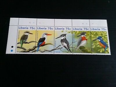Liberia1996 Kingfisher Birds  Mnh (G)