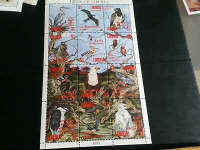 Liberia 1994  Birds Sheet  Mnh (G)