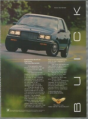 1984 BUICK SOMERSET advertisement, Buick ad, Somerset coupe