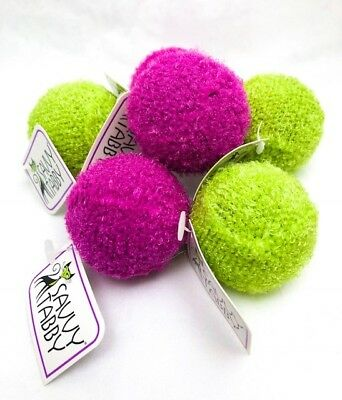 "Cat Rattle Balls Soft Knit Covered 1 1/2"" Pack of 6 Assorted Colors"