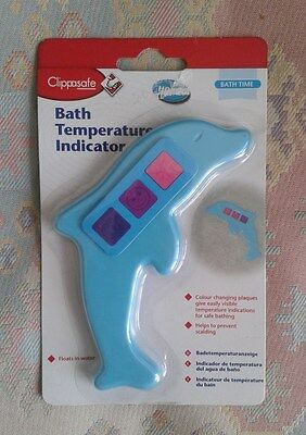 Clippasafe Dolphin Bath Temperature Indicator Colour Change Baby Safety Bath Toy