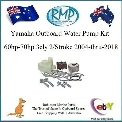 A Nice New Water Pump Kit Suits Yamaha 2004-2018 60hp-thru-70hp R 688-W0078 H