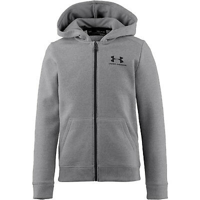 Under Armour Jungen Cotton Fleece Jacke (1320133-035) in grau, Gr. M-XL NEU!!!