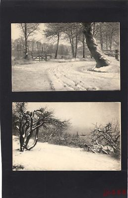 2 Vtg postcards Winter series Sol Art Prints Rotograph Co. NY (Germany) Unused