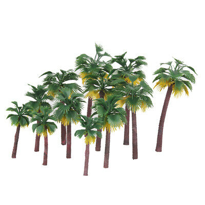 MagiDeal 12x Scale Painted Model Palm Trees Railway Landscape Scenery DIY