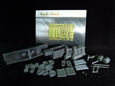 SR-71 Blackbird Landing gears (PE & resin parts) 1/72 Metallic Details 7219