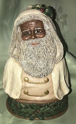 "All God's Children ""Father Christmas"" Bust Black Americana COA & Box!"