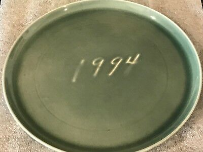 TEST PLATE ONE of KIND Russel Wright American Modern Steubenville Seafoam Green