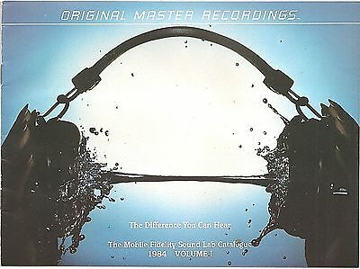 Mobile Fidelity Sound Lab Record Catalogue of Master Recordings 1984 Volume 1