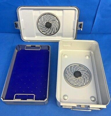 Aesculap JN741/JK789 SterilContainer 3/4 Size w/ JF253R Basket & Silicone Mat