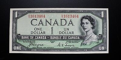 1954 BANK OF CANADA $1 DOLLAR DEVIL'S FACE **Coyne & Towers** B/A (( EF-AU ))