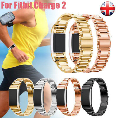 For Fitbit Charge 2 Stainless Steel Bracelet Wristwatch Straps Replacement UK J