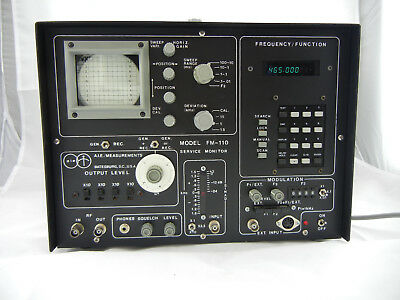 Rare!! AIE Measurements Model FM-110 Communication Service Monitor With Manuals