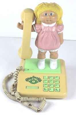 VINTAGE COLECO CABBAGE PATCH KIDS 1984 Telephone Dial Phone Retro 7911 Untested