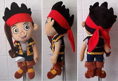 "DISNEY STORE 14"" Plush JAKE And The Never Land Pirate PETER PAN Boy Doll Sword"